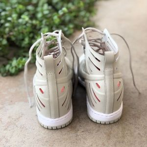 release date: 7c90a f8613 Nike Shoes - Nike Dunk Sky High Joli Nude Laser Wedge Sneakers